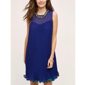 Anthropologie Maeve Pleat Swing Dress